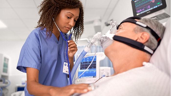 masque respiratoire hospitalier