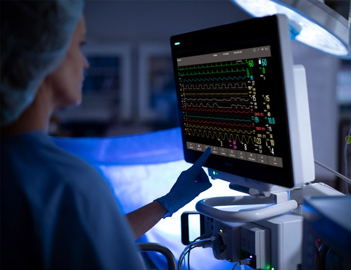 Philips IntelliVue bedside patientmonitor platform